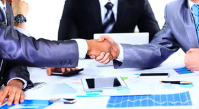 Two business colleagues shaking hands Royalty Free Stock Photo