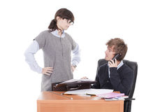 Two business colleagues working Stock Photos
