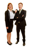 Two business consultants as a team. Smiling Royalty Free Stock Photo