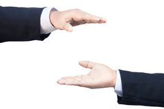 Two business hand protect sign Stock Image