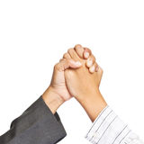 Two business hands Stock Photography