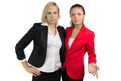 Two business lady looking at camera Royalty Free Stock Photography