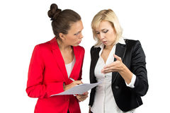 Two business lady making a decision Royalty Free Stock Images