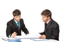 Two business man Stock Photos