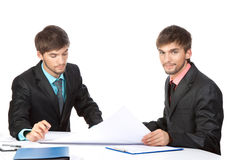 Two business man Stock Photography