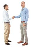 Two business man and business card  isolated Royalty Free Stock Image