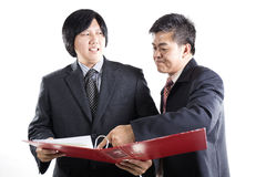 Two Business man discussion Royalty Free Stock Image