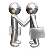 Two business man figures making a deal Stock Images