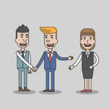Two Business man hand shake Royalty Free Stock Images