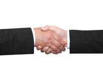 Two business man shakehand. Isolated two business man shakehand Royalty Free Stock Image