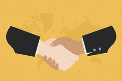 Two business man shakehand Stock Image