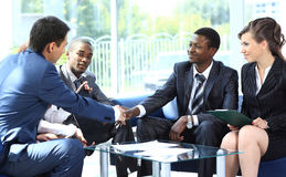 Two business man shaking hands Royalty Free Stock Image