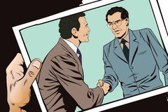 Two business man shaking hands. Stock illustration. Stock Photos