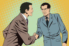 Two business man shaking hands. Stock illustration. Stock Photography