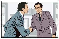 Two business man shaking hands. Stock illustration. Stock Images