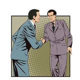 Two business man shaking hands. Stock illustration. Stock Image