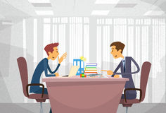 Two Business Man Talking Discussing Royalty Free Stock Image