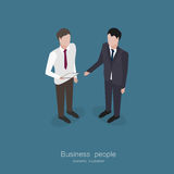 Two business man talking. Isometric style vector illustration royalty free illustration