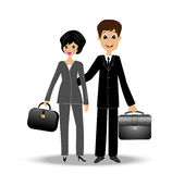 Two business  man and woman Royalty Free Stock Images