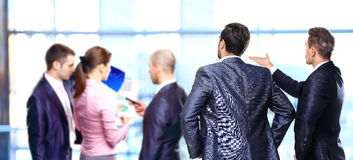 Two business mans from the back Royalty Free Stock Images