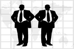 Two business men Stock Photo