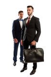Two business men full body Stock Photos