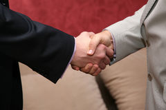 Two business men greet hands. The two business men greet hands Stock Photo