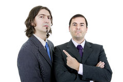 Two business men. Isolated on white background Stock Photos