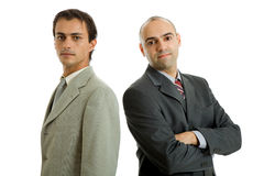 Two business men. Isolated on white background Royalty Free Stock Image