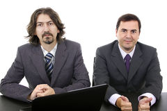 Two business men. With laptop computer Stock Photo