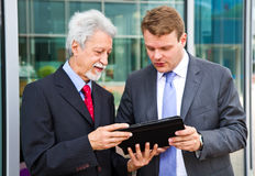 Two business men. Partner talking about project Stock Image