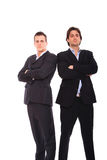 Two business men portrait. Isolated on white Royalty Free Stock Photography