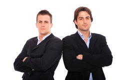 Two business men portrait. Isolated on white Stock Photography