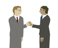 Two business men shaking hands. Stock Photography