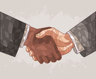 Two business men. Shaking hands Royalty Free Stock Photo