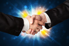 Two business men shaking hands Stock Photography