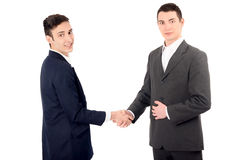 Two business men shaking hands. Royalty Free Stock Photos