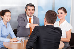 Two Business Partner Shaking Hands Royalty Free Stock Image