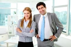 Two business partners Stock Images