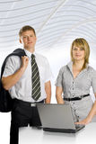 Two business partners. Two young business partners after work Stock Images