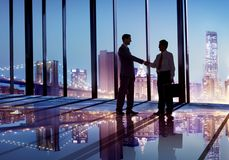 Two business partners in agreement Stock Images