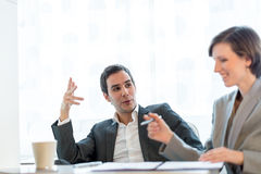 Two business partners having a meeting Royalty Free Stock Images