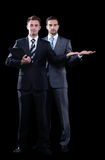 Two business partners are invited to cooperate Royalty Free Stock Photo