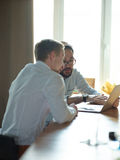 Two Business Partners Meeting stock image