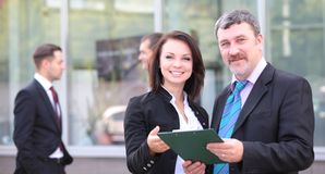 two business partners planning work Royalty Free Stock Image