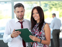 Two business partners planning work Royalty Free Stock Photo