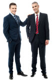 Two business partners posing together Stock Images