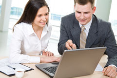 Two business people Royalty Free Stock Images