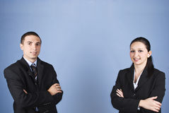 Two business people Stock Photo