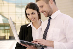 Two business people Stock Photos